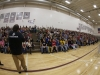 Micah Kranz share the bullying-prevention message with Westosha High School