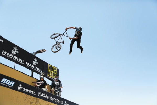 Mykel Larrin competed in the 2012 and 2013 X-games in BMX vert. He was one of five athletes on the No place for Hurt campaign in Colorado this week.