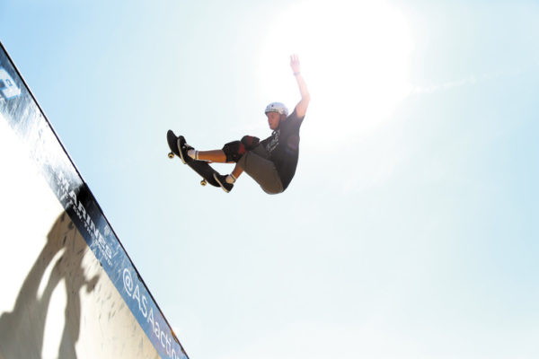 Paul-Luc Ronchetti, of England, is the only skateboarder on the 14-week tour, which kicked off in Colorado.