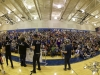 The athletes interact with students of Oak Creek High School