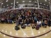 The students of Westosha High School take in the bullying-prevention facts
